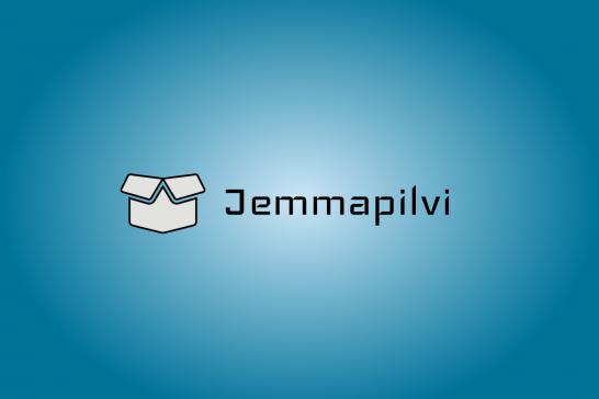 Jemman logo sinisellä taustalla.