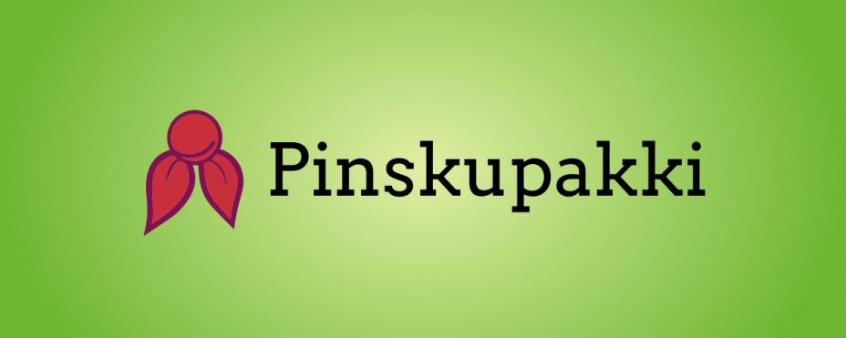 Pinskupakin logo vihreällä taustalla.